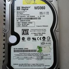 Hard disk colectie PC 3.5 SATA I Western Digital Raptor WD360GD 36Gb 10000 rot, Sub 40 GB, 10k, Western Digital