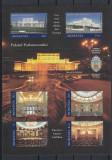 ROMANIA 2011 LP 1898 a PALATUL PARLAMENTULUI BLOC DE 6 TIMBRE MNH, Nestampilat