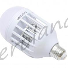 Bec LED 12W cu lampa uv impotriva insectelor