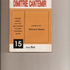 Scriitori români comentați - Dimitrie Cantemir - Studiu literar