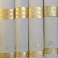 ENCICLOPEDIA ROMANIEI, D. GUSTI, VOLUMELE I - IV, BUCURESTI , 1938-1943