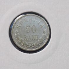 50 bani 1876 - argint - Moneda Romania