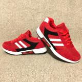 Pantofi Femei Sport BW017R - Rosu cu Alb