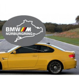 Sticker Geam Bmw M Germany Nurburgring Negru
