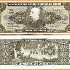 Brazilia 1962 - 5 cruzeiros UNC - bancnota america