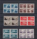ROMANIA 1945 LP 168    APARAREA  PATRIOTICA  BLOCURI  4  TIMBRE  MNH, Nestampilat