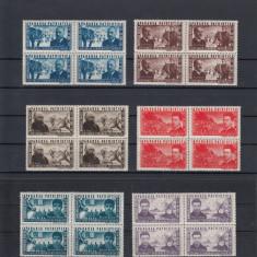ROMANIA 1945 LP 168 APARAREA PATRIOTICA BLOCURI 4 TIMBRE MNH - Timbre Romania, Nestampilat