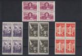 ROMANIA 1947  LP 206    SECETA   BLOCURI DE 4 TIMBRE   MNH, Nestampilat