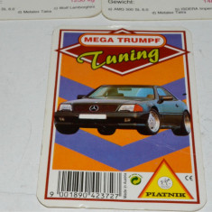 Cartonase masini pentru copii Mega Triumpf Tunning  Piatnik, anii '80 - '90