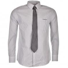 Camasa maneca lunga Barbati Pierre Cardin Paris + Cravata office originala, S, Gri