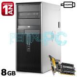 Oferta!!! Calculator Intel Core2Quad Q9505 8GB DDR2 250GB GF210 1GB HDMI DVD-RW, Intel Core 2 Quad, 8 Gb, 500-999 GB, HP