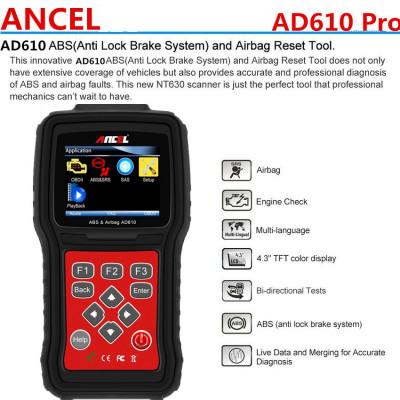 Tester auto, Interfata auto, Diagnoza Auto Scanner OBD OBD2 Ancel AD610 foto