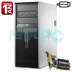 Oferta!!! Calculator Intel Core2Quad Q9505 4GB DDR2 250GB GF210 1GB HDMI DVD-RW, Intel Core 2 Quad, 4 GB, 500-999 GB, HP