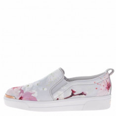 Tenisi slip-on bleu Ted Baker Tancey cu model floral, Ted Baker