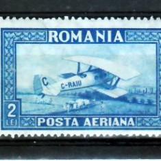 Romania    1928  C.Raiu       filigran  orizontal  urme de sarniera