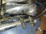 TOBA DE ESAPAMENT crom pt.motocicleta veche IJ de Colect,Esapament parte dreapta