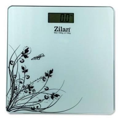 Cantar electronic de persoane Zilan ZLN 7680 alb ,platforma sticla,150 kg maxim foto