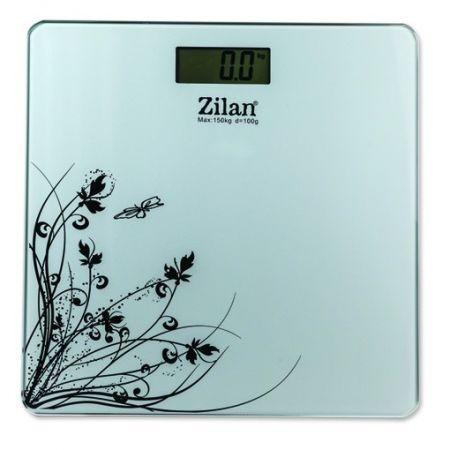 Cantar electronic de persoane Zilan ZLN 7680 alb ,platforma sticla,150 kg maxim foto mare