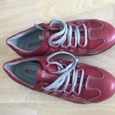 Pantofi dama ecco piele ca noi mar,35, Rosu, Cu platforma