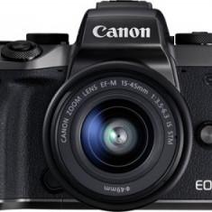 Aparat Foto Mirrorless Canon EOS M5 View Finder, EF-M 15-45, 24.2 MP, Filmare Full HD, Wireless, NFC (Negru)