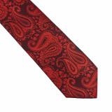 Cravata rosie paisley Popper