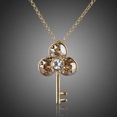 Colier CZ05 AzoryLux Cubic Zirconia Gold Key