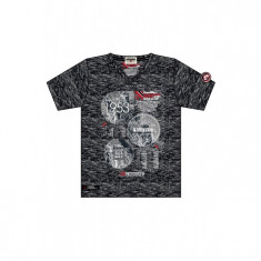 Tricou Barbati Geographical norway Negru 67716, M, Geographical Norway