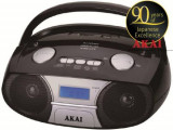 Microsistem audio Akai APRC-106, MP3 player, Radio FM, USB (Negru)