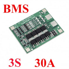 Modul incarcare / Placa protectie 3 acumulatori 18650 / BMS 3S ( 30A ) (v.48)