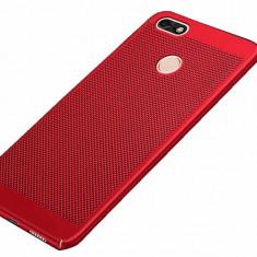 Husa Protectie Plastic Perforata Mesh Huawei Y6 Pro 2017, Alt model telefon Huawei, Rosu