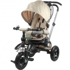 Tricicleta pentru copii, cu maner reversibil, capuccino