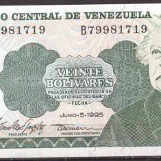 Venezuela 1995 - 20 bolivares aUNC