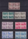 ROMANIA 1928  LP 81  50  ANI  DE LA  UNIREA  DOBROGEI  BLOCURI DE 4 TIMBRE, Nestampilat