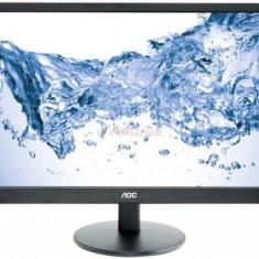 Monitor LED AOC 23.6inch M2470SWDA2, Full HD (1920 x 1080), VGA, DVI, 5 ms (Negru)