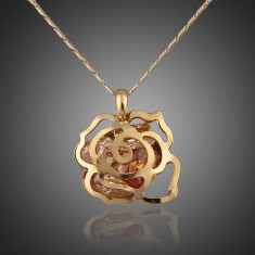 Colier CZ06 AzoryLux Cubic Zirconia Gold Rose