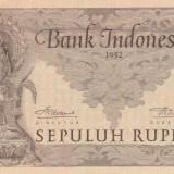 Indonezia  10 Rupiah 1952  P.43b  VF