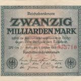 Germania 20 Milliarden  Mark  1923 P118a., Ro.115  VF
