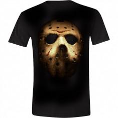 Friday the 13th - Jason's Mask Men T-Shirt - Black, Size XL