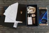 Samsung s7 edge silver full box impecabil, 32GB, Argintiu, Neblocat