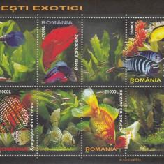ROMANIA 2005  LP 1676 c  PESTI  EXOTICI  BLOC   MNH, Nestampilat