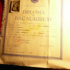 Diploma de Bacalaureat la Liceul T.Vladimirescu 1973 ,real