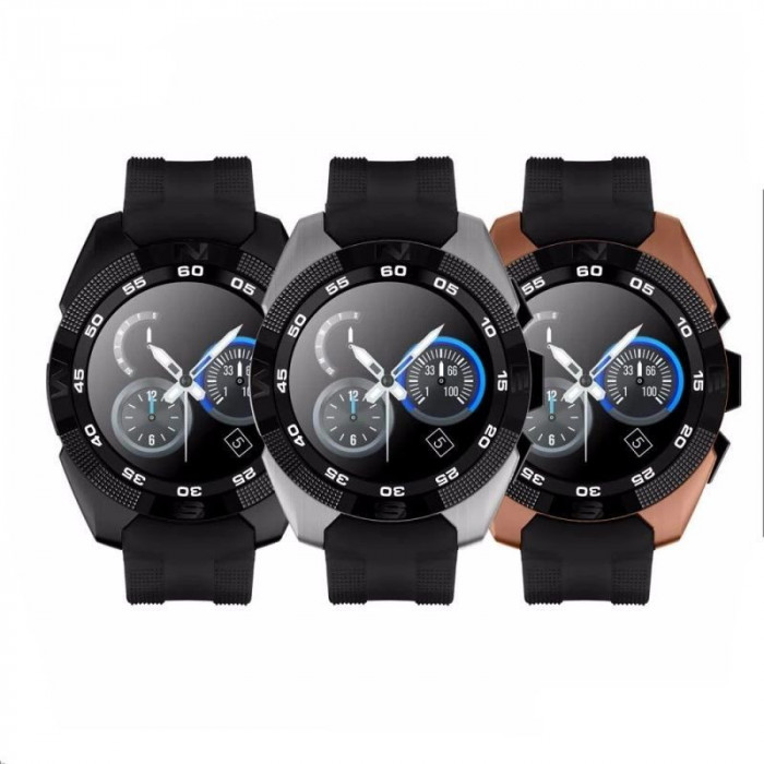 Smartwatch bluetooth 4.0, touchscreen LCD, 14 functii, Android iOS, SoVogue foto mare