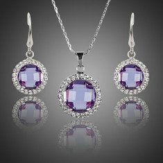 Set Bijuterii AZ14 Lux Azory Purple Heart