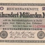 Germania 200 Milliarden  Mark  1923 P121a., Ro.121b  VF