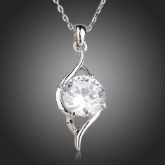 Colier CZ04 AzoryLux Cubic Zirconia Silver Heart