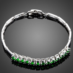 Bratara BZ019 Azory Lux Long Green Diamonds