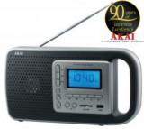 Radio cu ceas Akai PR005A-420B, USB, cititor SD (Negru)