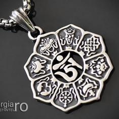 Pandant Amuleta Talisman Pandantiv Om Mani Padme Hum INOX cod - PND100