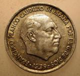 2.725 SPANIA FRANCO 10 CENTIMOS 1959, Europa, Aluminiu