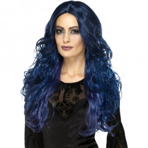 Peruca Occult Witch Suvite Albastre - Carnaval24